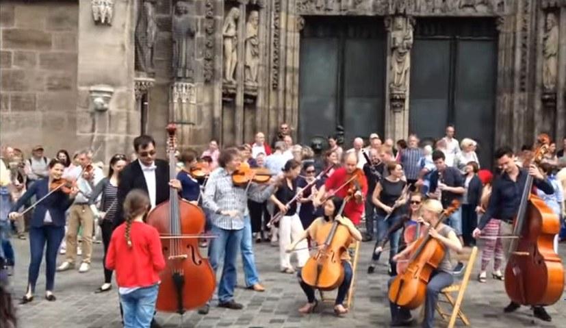 "Flashmob: ""Ode an die Freude"""
