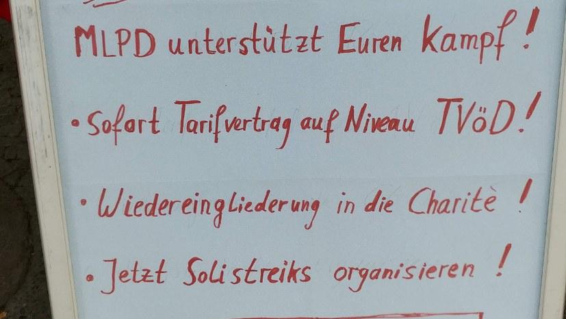 6. bis 10. Juli: Warnstreikwoche bei der Charité Facility Management GmbH (CFM)