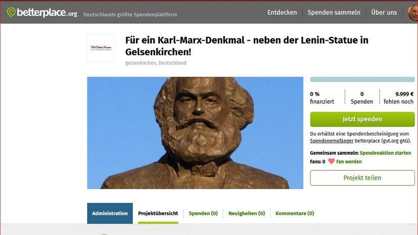 Für ein Karl-Marx-Denkmal - neben der Lenin-Statue!