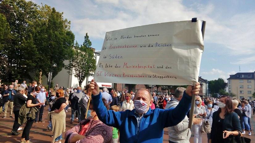 Protest gegen geplante Krankenhausschließungen