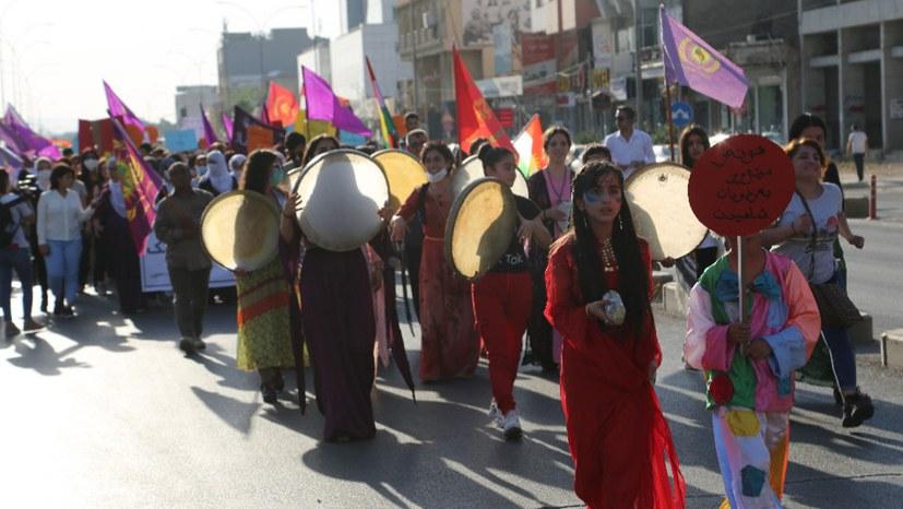 Silêmanî: Frauendemonstration gegen türkische Besatzung
