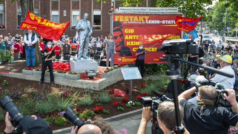 AfD raus aus der Arbeiterstadt Gelsenkirchen - Finger weg von Lenin!