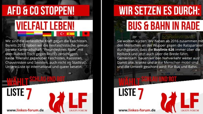 Linkes Forum verbreitert Wahlkampagne: Vier Themenplakate, 100 Standorte