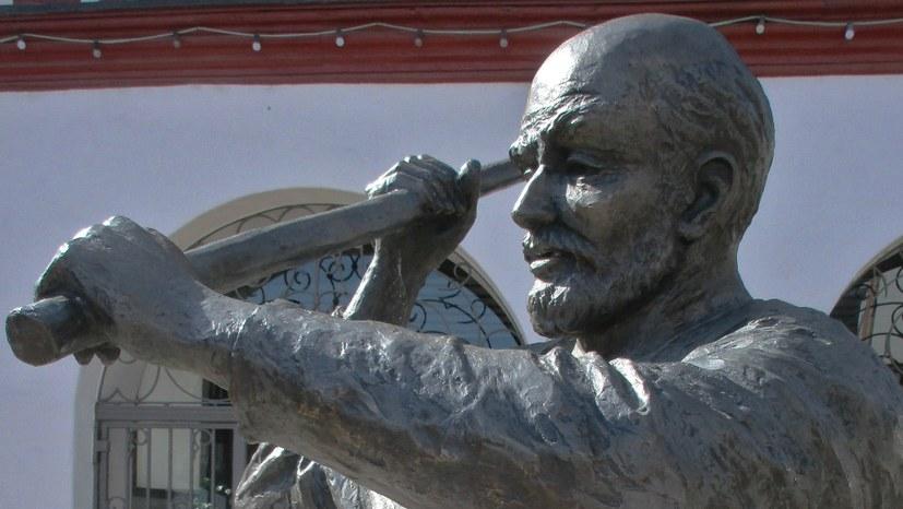 Ein Lenin-Denkmal, das keines ist