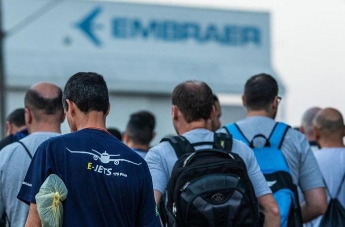 Beschäftigte beim Flugzeugbauer Embrear streiken