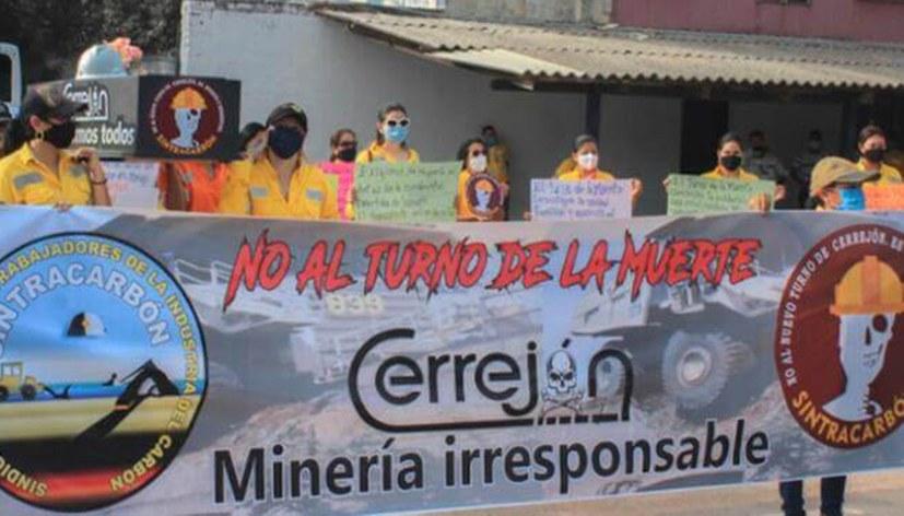 """""""Nein zu den Todesschichten !"""" Unbefristeter Streik der Bergleute"""