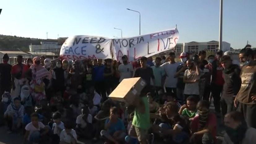 Faschistoide AfD und griechischer Minister hetzen gegen Moria-Flüchtlinge