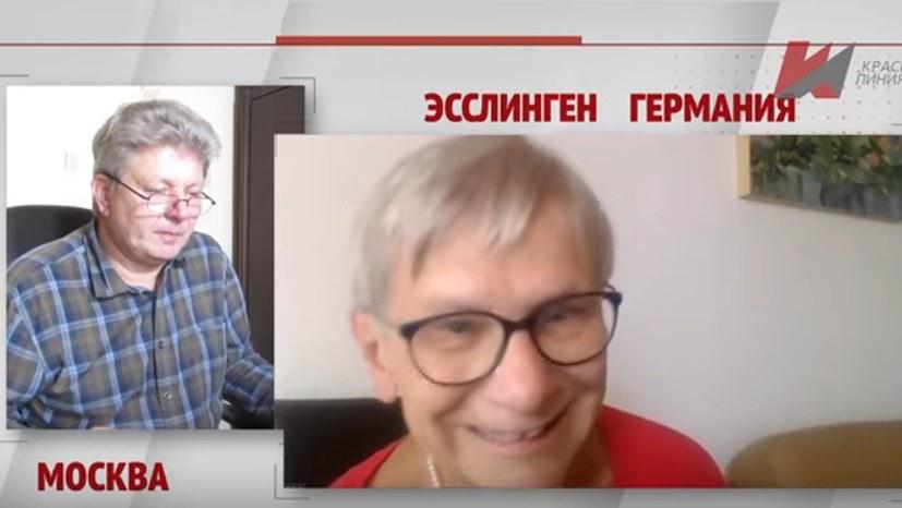 Lenin-Statue im russischen Fernsehen