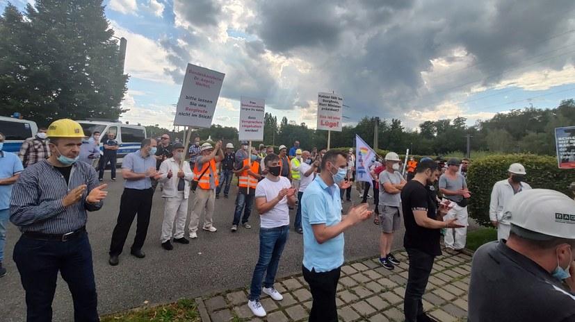 Nachlese zum Kumpelprotest anlässlich des Merkel-Besuchs am 18. August