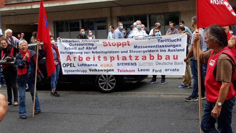 Protest gegen LSG-Verkauf an Gate Gourmet