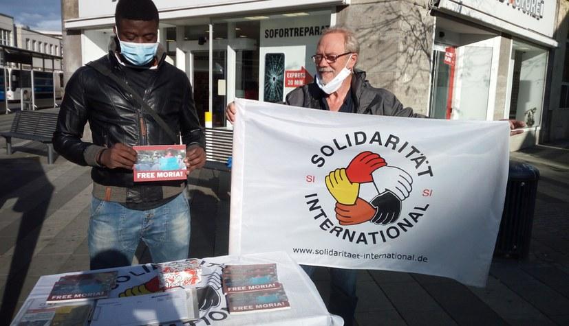 Solidarische und internationale FFF-Aktion mit tiefgehender Diskussion