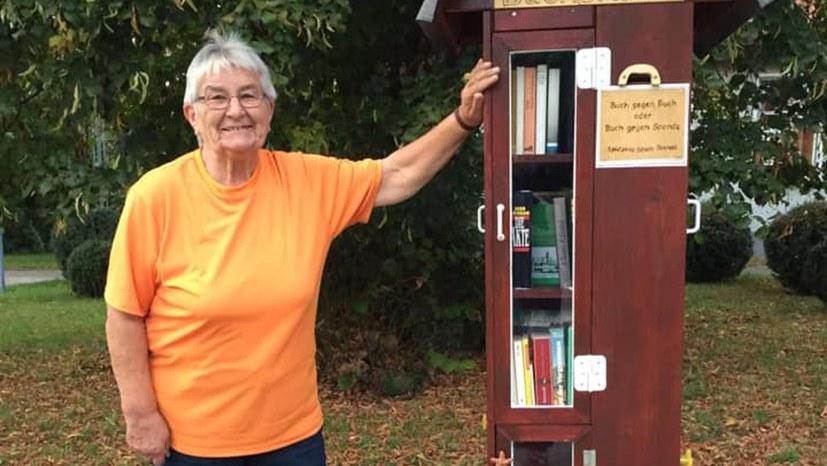 Neuer Bücherturm im Ferienpark Plauer See