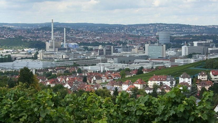 Kundgebung der IG Metall im Betrieb in Untertürkheim und in Mettingen