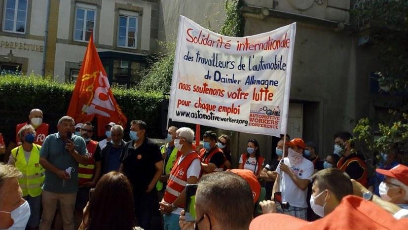 Weltweite Solidarität im Kampf gegen die massiven Angriffe auf die Daimler-Belegschaften!