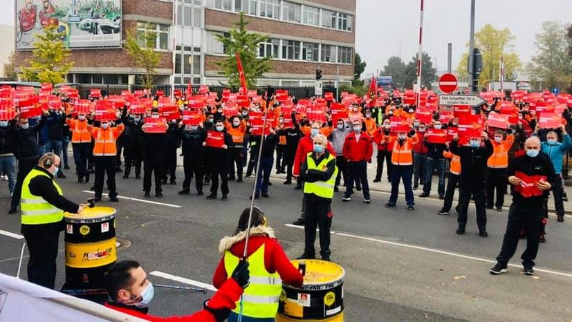 3000 bis 4000 Kollegen in Schweinfurt auf der Straße