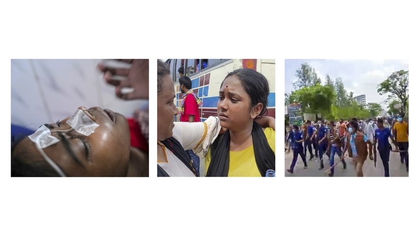 Frauenmarsch wird von Schlägern angegriffen