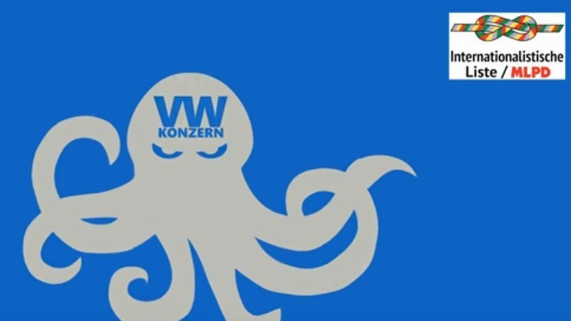"""Werkschutz und Polizei pro VW contra MLPD und """"Rote Fahne"""""""