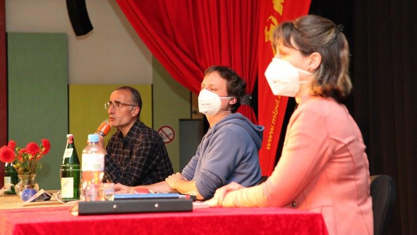 Internationalismus Live-Veranstaltung der MLPD mit Müslüm Elma in der Horster Mitte