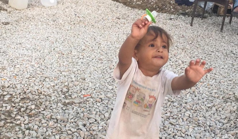 Im Gefängnis von Kara Tepe geboren: Die kleine Hope