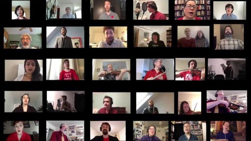 """93 Sängerinnen und Sänger präsentieren """"Die Internationale"""" im Internet"""