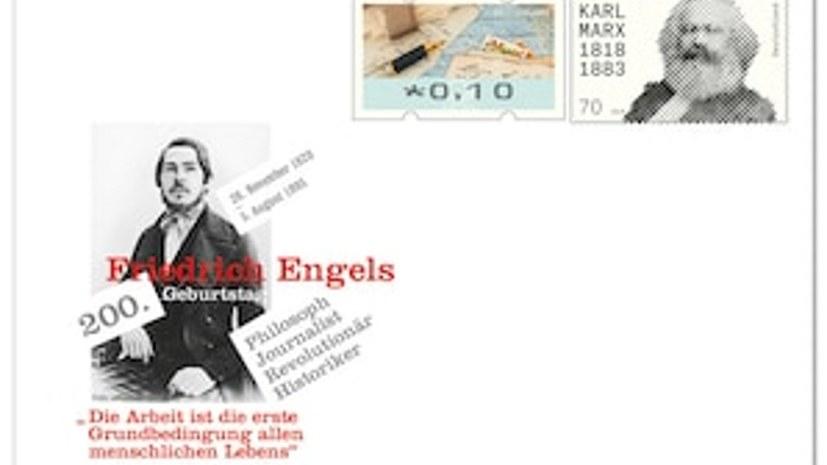 """Gedenkbriefumschlag """"200. Geburtstag Friedrich Engels"""""""