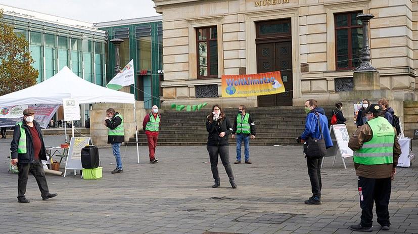 Weltklima-Aktionstag  auf dem Schlossplatz