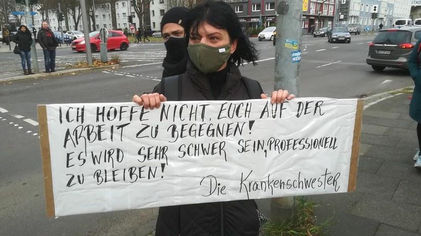 """Proteste gegen Kundgebung der """"Querdenker"""""""