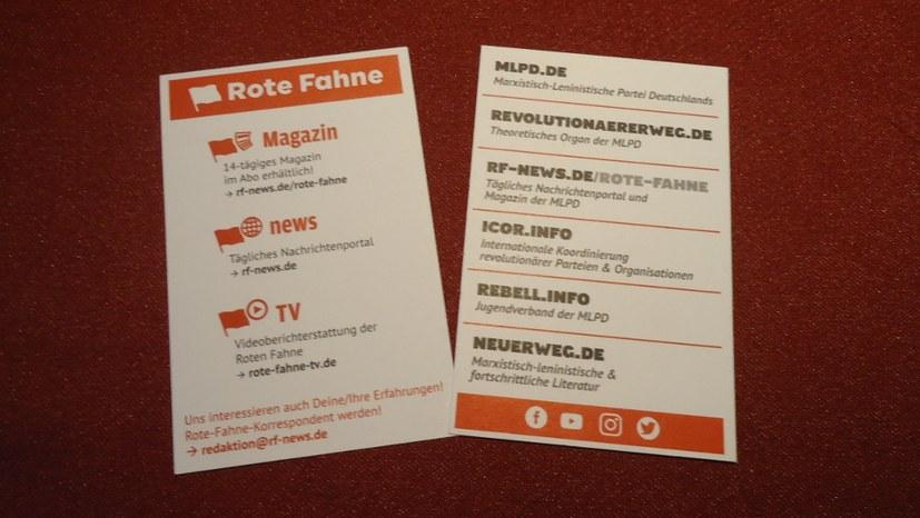 """Breites Werbemittel - auch für """"Revolutionaererweg.de"""""""