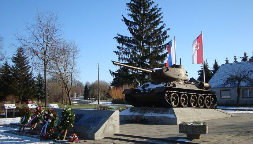 Erster Brückenkopf der Roten Armee an der Oder