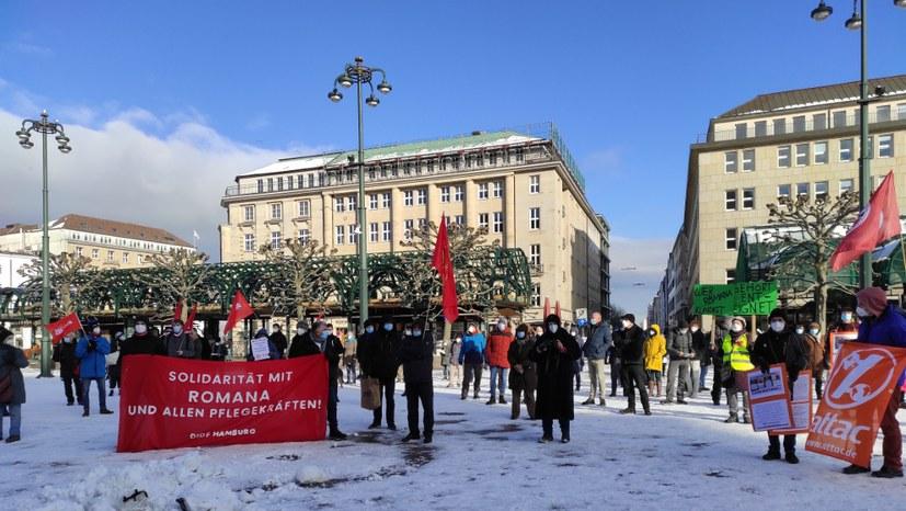 Solidarität mit der gekündigten Krankenpflegerin Romana Knezevic!