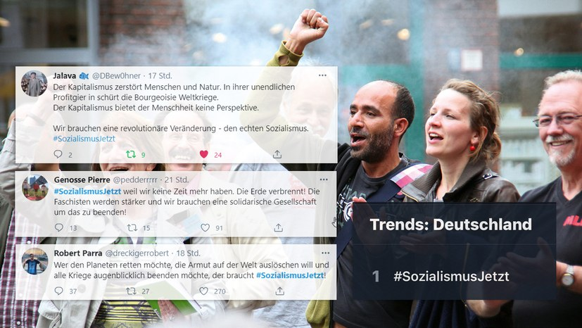 #SozialismusJetzt in den Twitter Trends