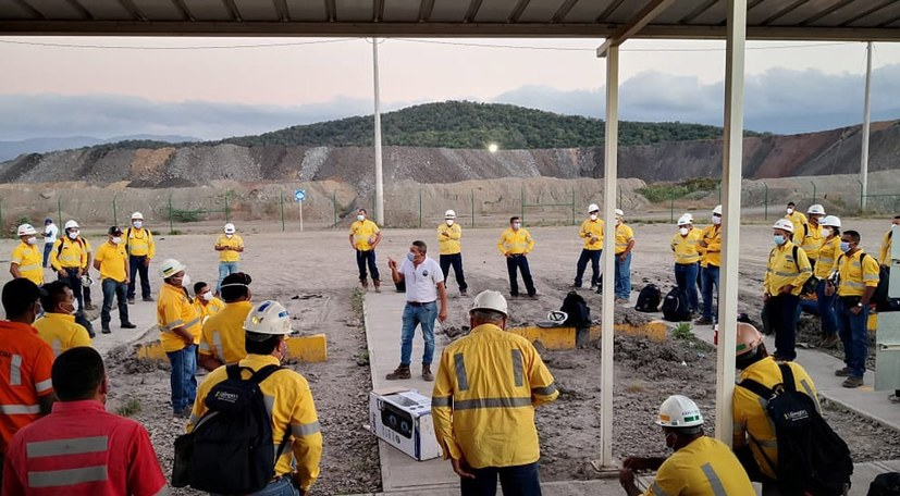 Bergarbeiter gegen Erpressung!