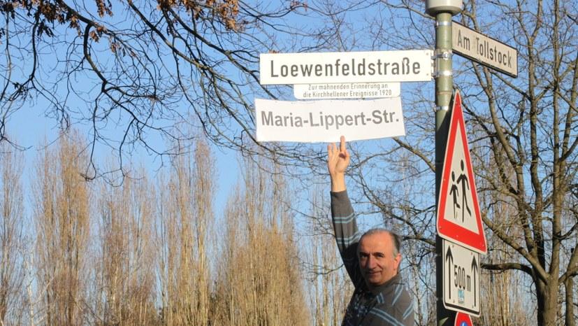 Symbolische Umbenennung der Loewenfeldstraße