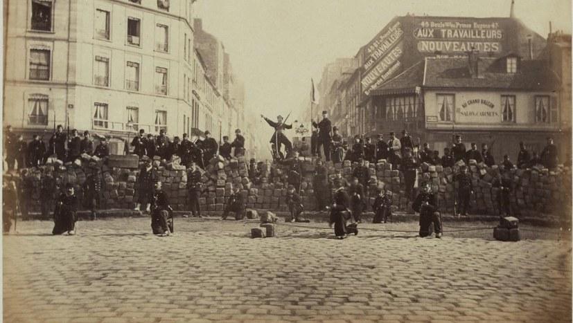 Feierliche Kundgebung zum 150. Jahrestag der Pariser Kommune am 18. März
