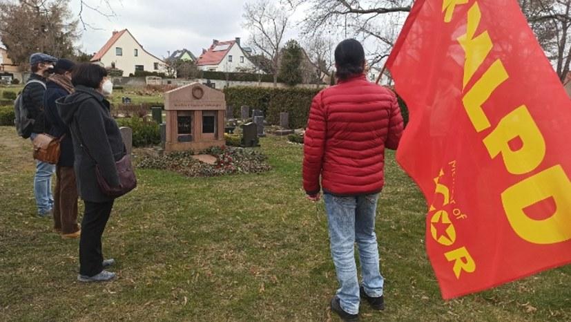 Gedenken an die Kämpfer gegen den Kapp-Putsch in Halle-Lettin