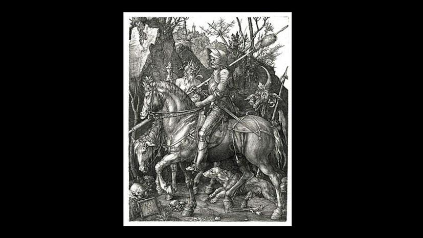 """Albrecht Dürer: """"Ritter, Tod und Teufel"""""""