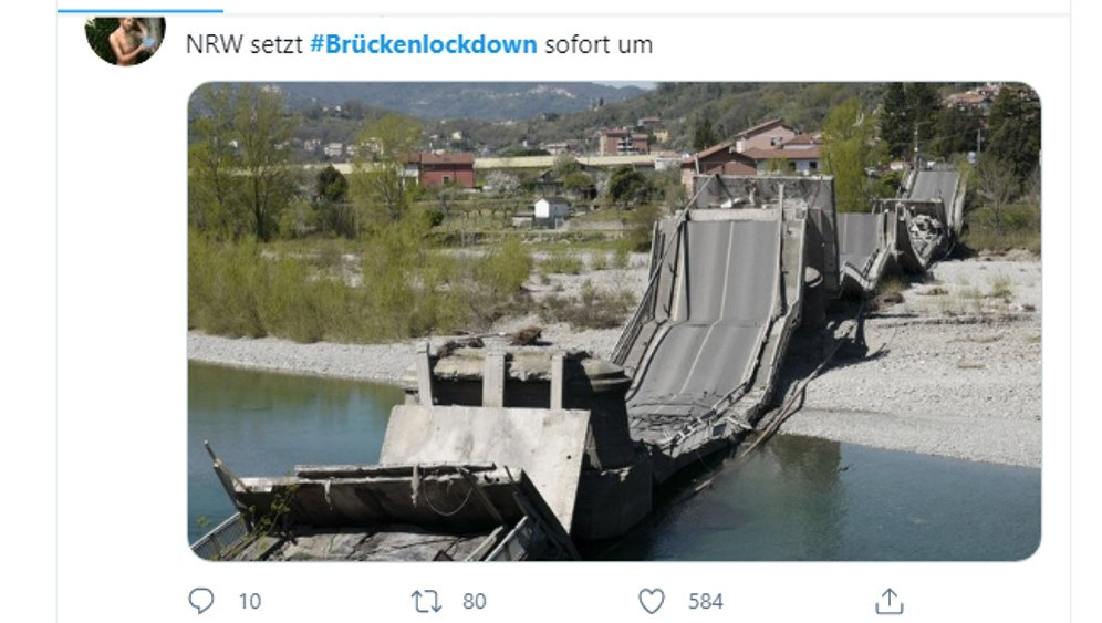 NRW setzt den Brückenlockdown sofort um