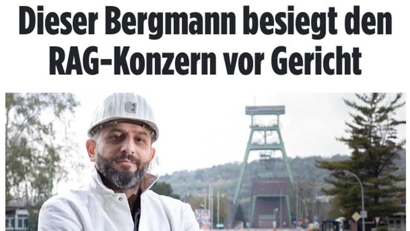 Ein Bergmann kämpft weiter um seine Rechte