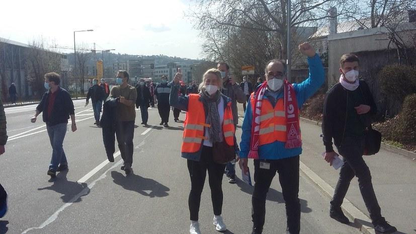 Welle der Solidarität mit den Metallern in Ostdeutschland