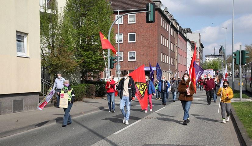 Die Gewerkschaftsbasis prägte den 1. Mai!