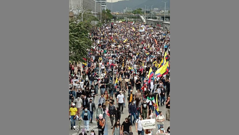 Sieben Millionen beim landesweiten Streiktag in Kolumbien