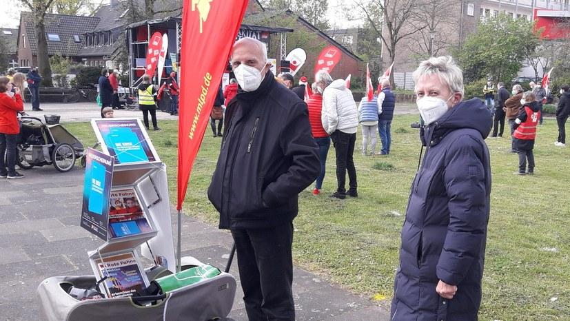 Moers: Stolz auf Kundgebung im Bergarbeiterstadtteil Meerbeck