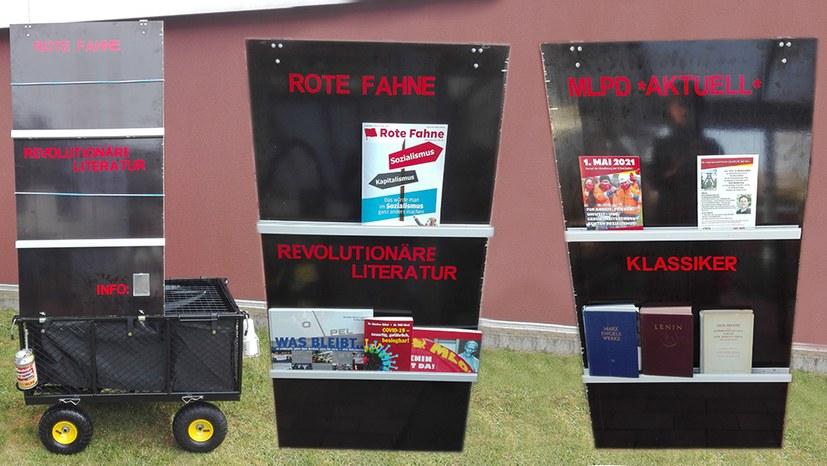 Tolle Idee: Ein Bücherwagen