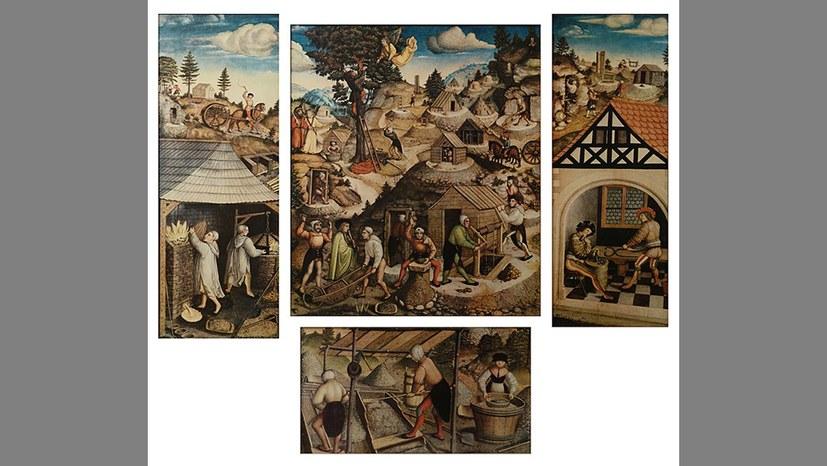 Bergbau und Bergleute auf dem Annaberger Altar - aktualisiert mit Link auf größere Ansicht