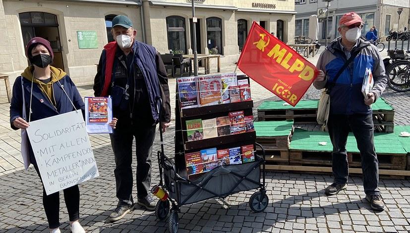 Coburg: Wir grüßen die streikenden Kollegen in Berlin/Brandenburg/Sachsen