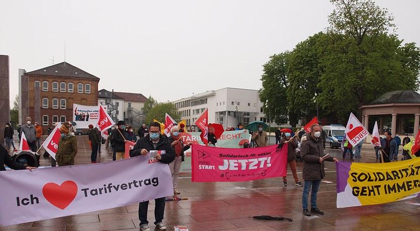 Ludwigsburg: DGB-Kundgebung mit 100 Teilnehmerinnen und Teilnehmern