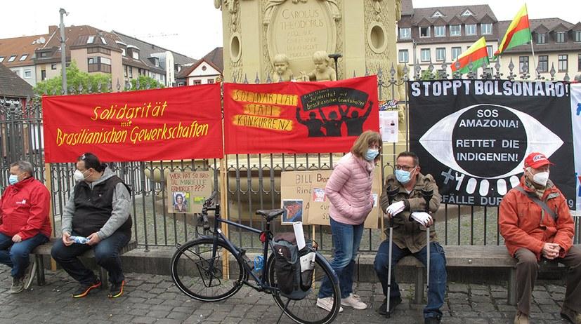 Mannheim: Internationalistisches Bündnis nimmt an DGB-Kundgebung teil