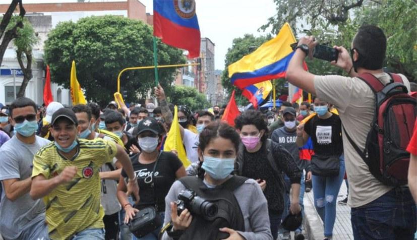 Massenrebellion in Kolumbien