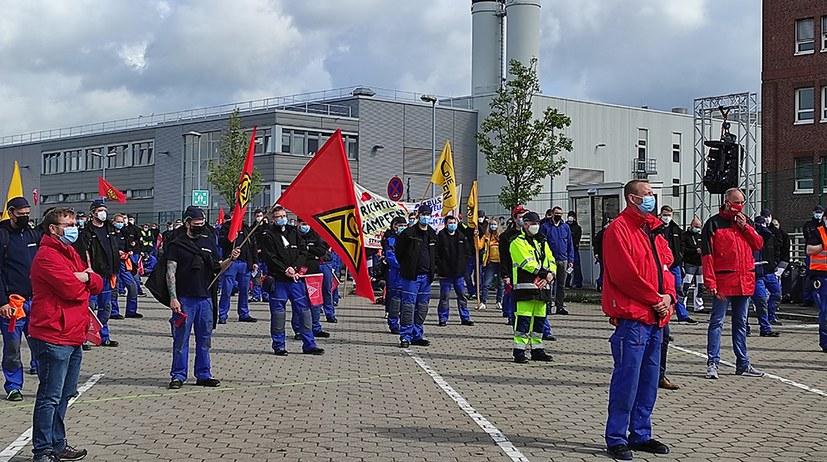 Protest gegen Angriffe von Airbus: Gedanke der Arbeiteroffensive entwickelt sich