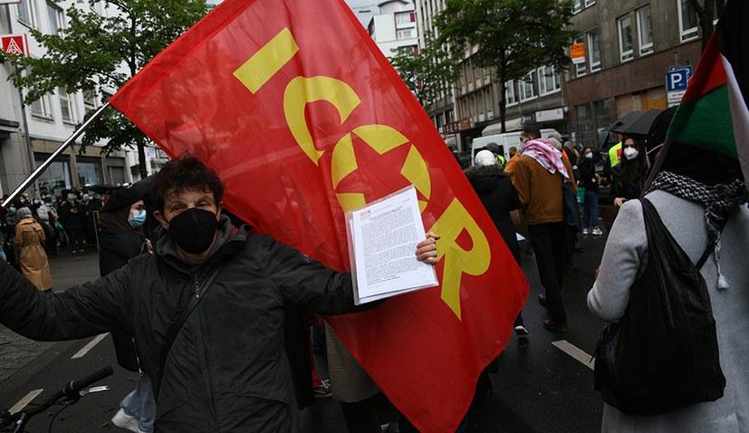 Üble Polizeitaktik gegen Solidaritätsdemonstration